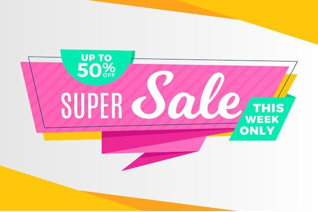 Super venda esta semana apenas estilo origami