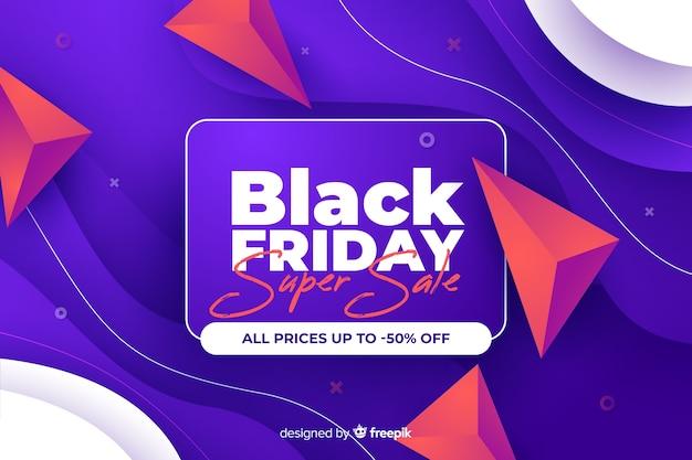 Super venda gradiente preto sexta-feira