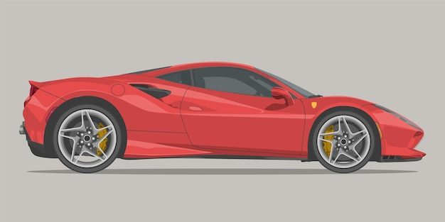 Supercar side view