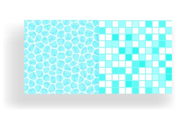 Superfície da água da piscina com padrão de azulejos sem costura.