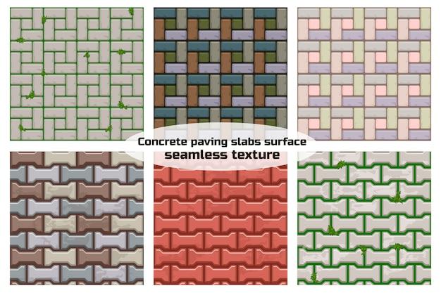 Superfície de lajes de pavimentação em forma de h. textura sem costura