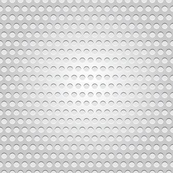 Superfície de metal perfeita, textura perfurada de fundo cinza claro