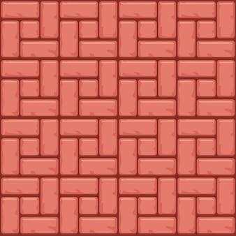 Superfície de pavimentação de concreto vermelho. origens de textura sem costura
