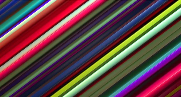 Superfície em camadas colorida. abstrato geométrico ilustração. padrão de camadas aleatórias. padrão listrado.
