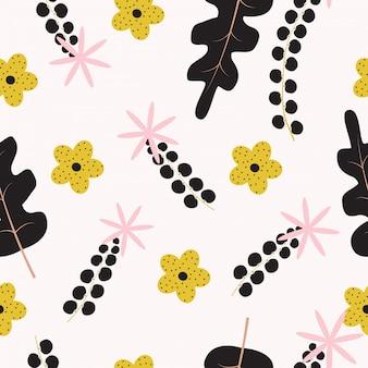 Superfície floral abstrato sem costura de fundo