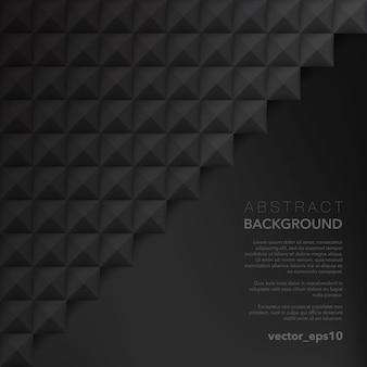 Superfície geométrica preta. superfície de vetor abstrato.