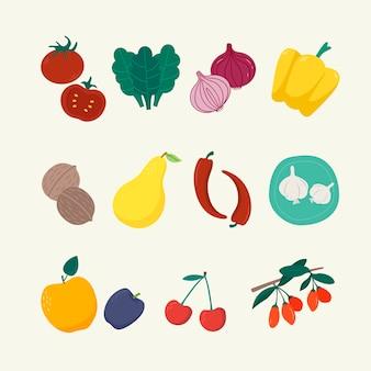 Superfood coleção alimentos saudáveis