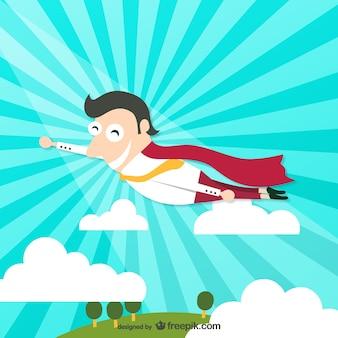 Superhero personagem de desenho animado