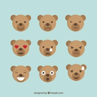 Suportar emoções conjunto de ícones, estilo plano