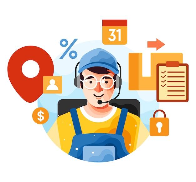 Suporte ao cliente via serviço de operadora de telefone