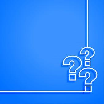 Suporte da web azul e design do modelo da página de ajuda