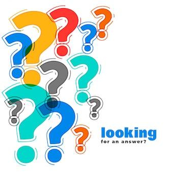 Suporte da web ponto de interrogação e modelo de página de ajuda