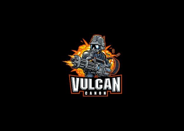Suporte do robô vulcan cannon esport logo