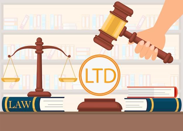 Suporte jurídico vector plana antes de tomar a decisão.