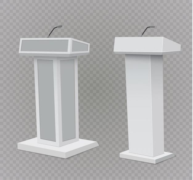 Suporte para tribuna de tribuna do pódio com microfones