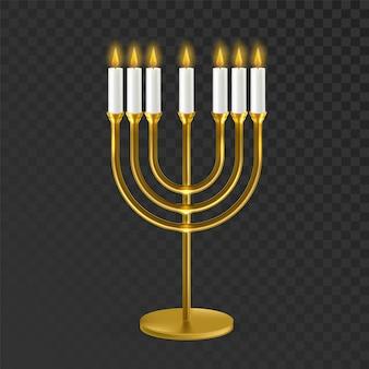 Suporte para velas tradicionais judaicas de menorá