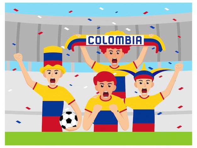 Suportes de columbia em design plano