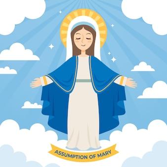 Suposição da ilustração de maria