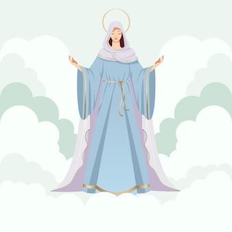 Suposição detalhada da ilustração de maria