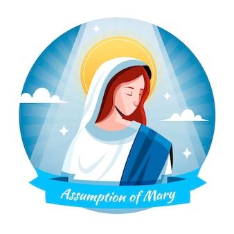 Suposição simples da ilustração de maria