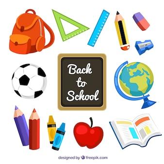 Suprimentos de volta à escola