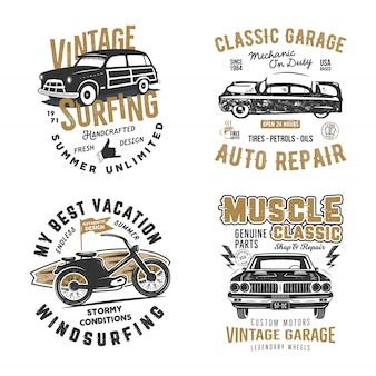 Surf and classic garage prints