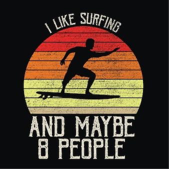 Surf em sillhouete