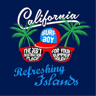 Surf island t shirt vector graphic