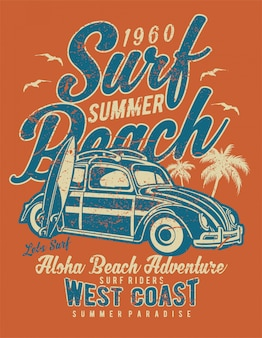 Surf praia verão