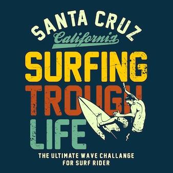 Surfar através da vida