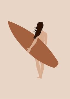 Surfer girl boho print