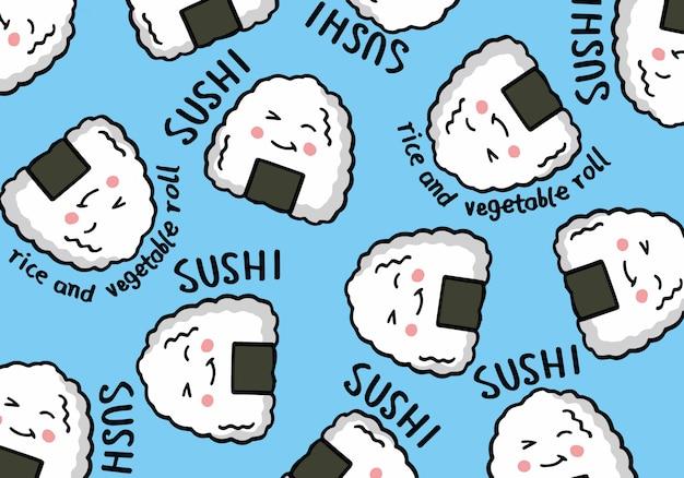 Sushi desenhado a mão