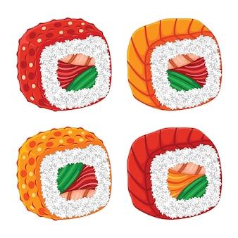 Sushi japão food flat