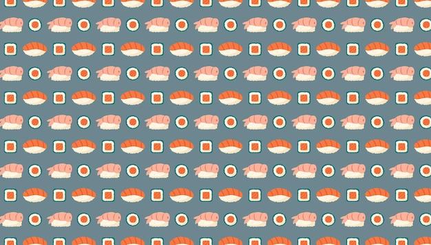 Sushi maki rola com salmão, peixe, arroz e alga nori, comida asiática, entrega, textura padrão