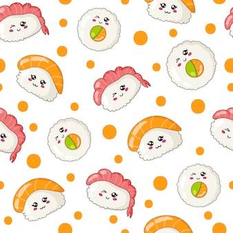 Sushi, sashimi e pãezinhos kawaii