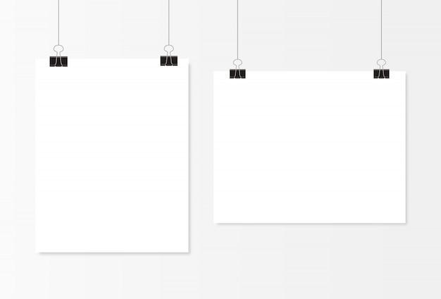 Suspensão de cartaz em branco branco