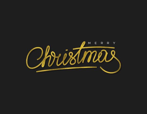Suspiro caligráfico de brilho feliz natal.