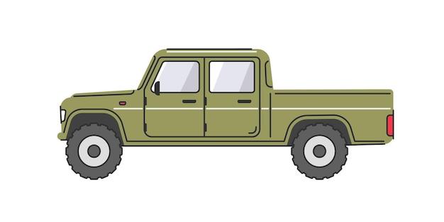 Suv vista lateral do carro com tração nas quatro rodas