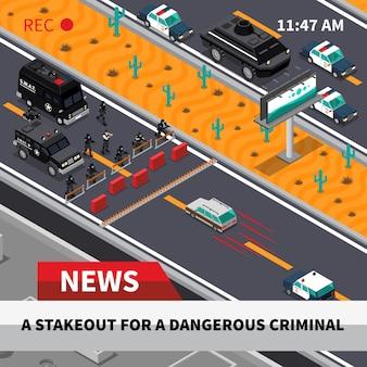 Swat action isometric screenshot composição poster