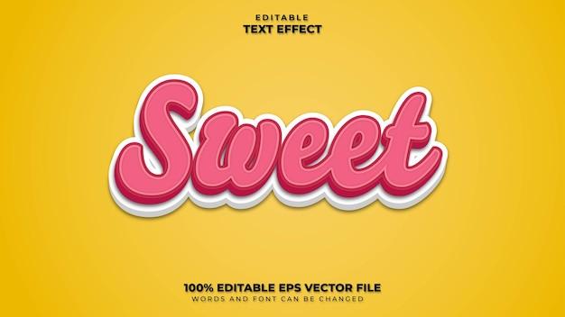 Sweet text effect