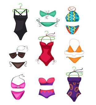 Swimwear definir ilustração
