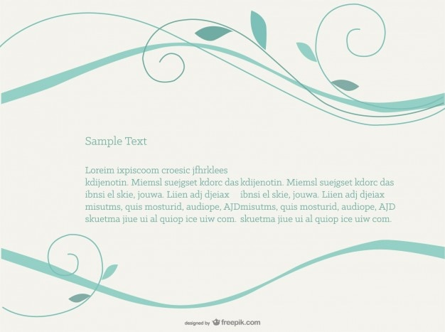 Swirly livre vector background design simples