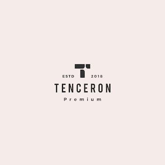 T carta logo vector icon ilustração