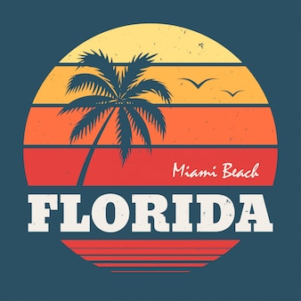 T de florida miami beach camiseta