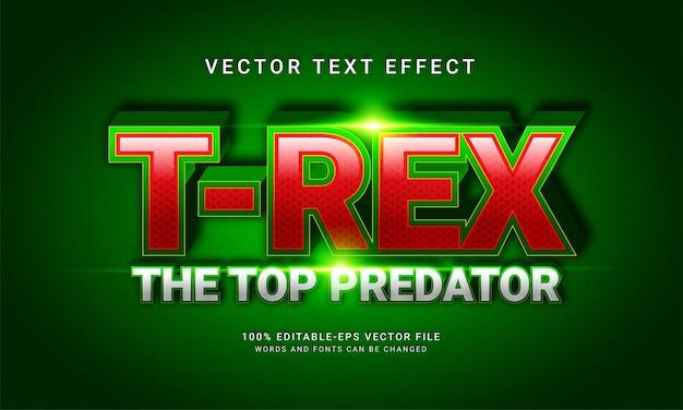 T-rex, o maior predador, estilo de texto editável com o tema vida selvagem