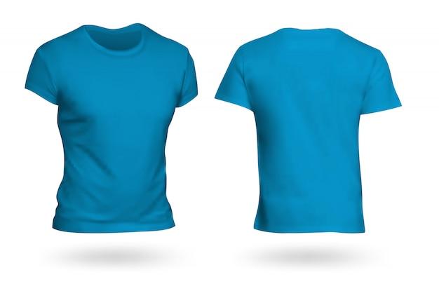 T-shirt azul modelo fundo transparente