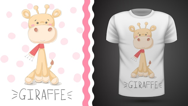 T-shirt bonito do girafa