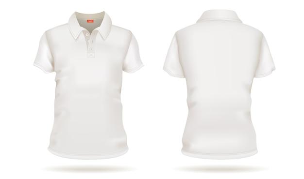 T-shirt branca de vetor modelo frente e traseira vista branca