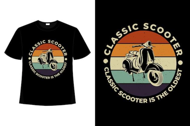 T-shirt clássica scooter retro