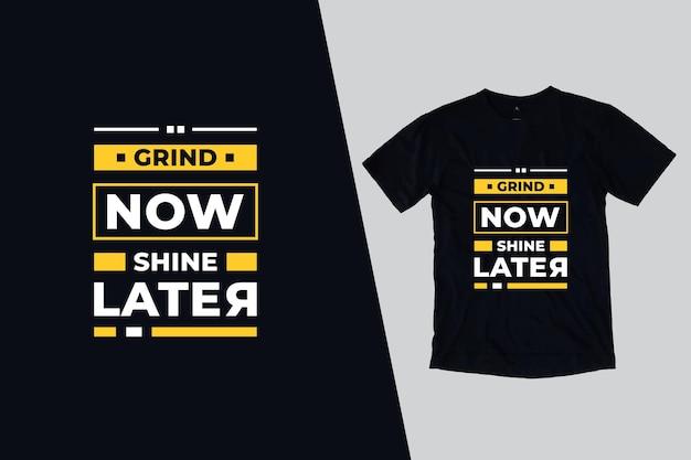 T-shirt com belas citações modernas